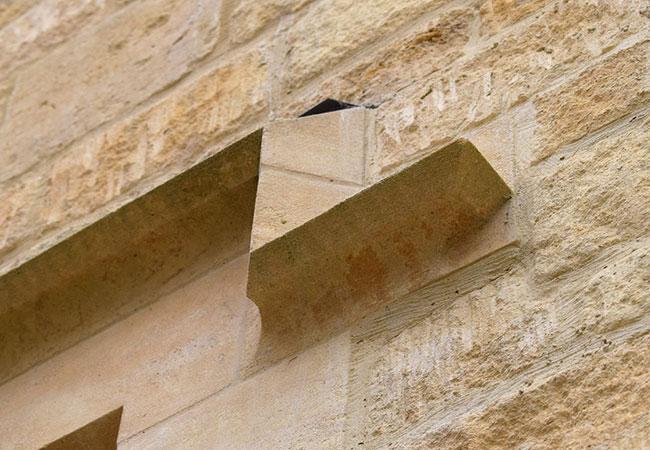 Cotswold stone architectural masonry window