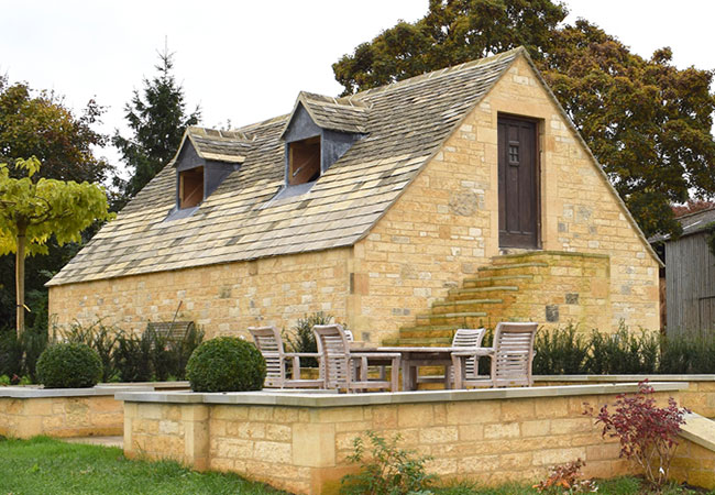 Cotswold stone extension building