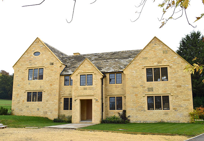 New build Cotswold stone house