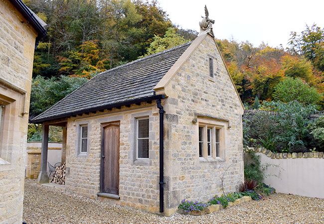 Restoration of traditional Cotswold stone building